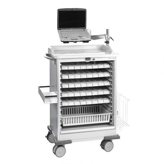 Chariot Médicart pour bacs individuels ou plateaux piluliers