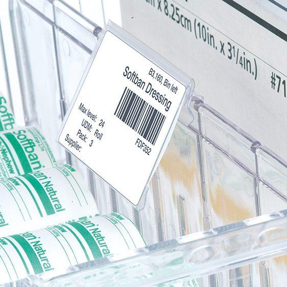 Porte-étiquettes souple pour code-barres
