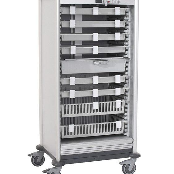 Armoire à pharmacie mobile pour paniers modulaires – Médicart