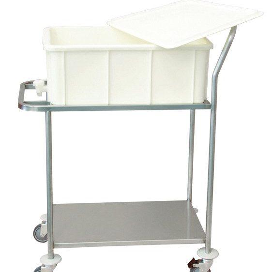 Chariot de transport pour bac de décontamination ISO