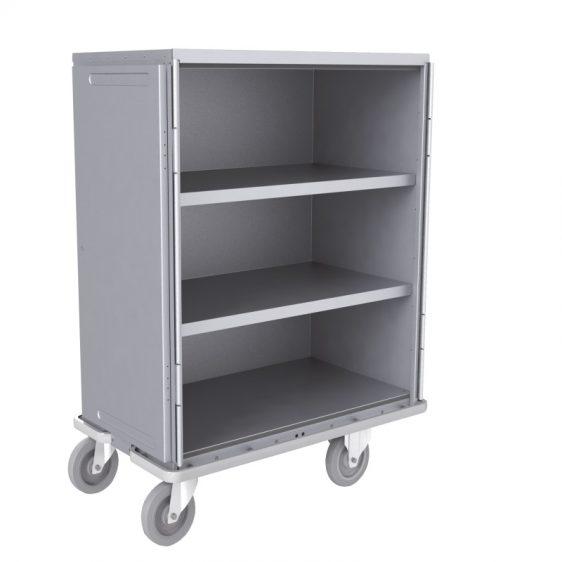 Armoire de transport aluminium avec étagères