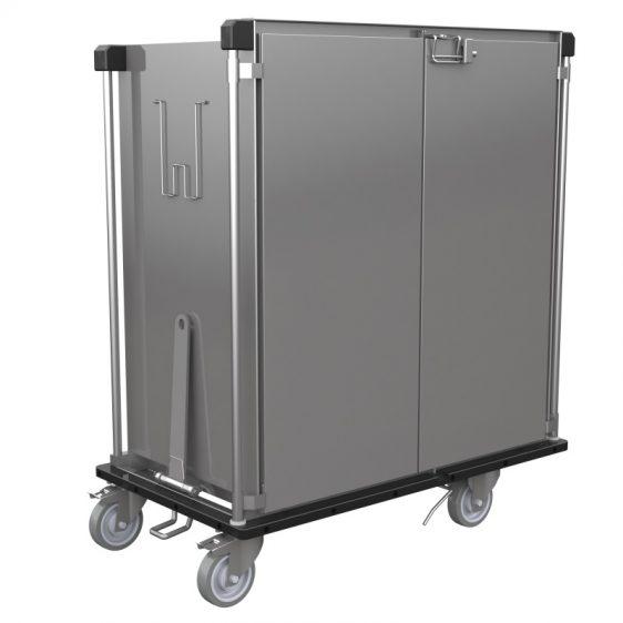 Armoire de transport inox avec guides fixes