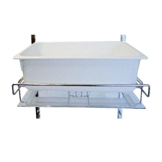 Support pour containers de stérilisation avec support couvercle